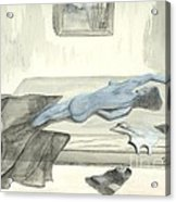 Mmm... Stretch... Acrylic Print by Robert Meszaros