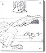 Mmm...stretch... Sketch Acrylic Print by Robert Meszaros