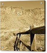 Moab - Sepia Acrylic Print