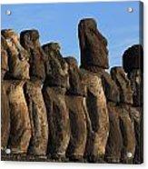 Moai Along The Coast Of Easter Island Acrylic Print
