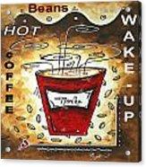 Mocha Beans Original Painting Madart Acrylic Print by Megan Duncanson