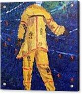 Mocko Jumbie In Yellow Acrylic Print