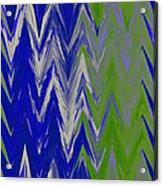 Moda Chevron Pattern IIi Acrylic Print by Ricki Mountain