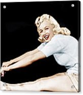 Model And Columbia Starlet Marilyn Acrylic Print
