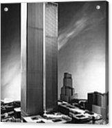Model Of World Trade Center Acrylic Print