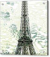 Modern-art Eiffel Tower 12 Acrylic Print