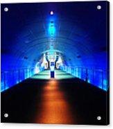 Modern Blue Tunnel Acrylic Print
