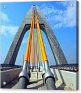 Modern Cable-stayed Bridge Acrylic Print