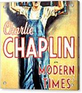 Modern Times, Charlie Chaplin, 1936 Acrylic Print