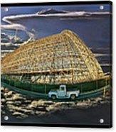 Moffett Field Hangar One And Truck Acrylic Print