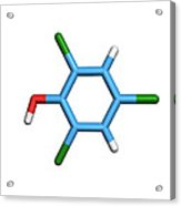Molecule Of A Component Of Tcp Antiseptic Acrylic Print