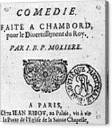 Moliere (1622-1773) Acrylic Print