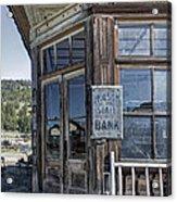 Molson Washington Ghost Town Bank Acrylic Print