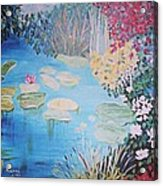 Monet Style By Alanna Acrylic Print by Alanna Hug-McAnnally