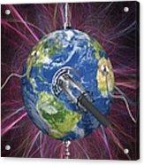 Monitoring Earth, Conceptual Artwork Acrylic Print by Laguna Design