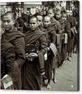 Monks In The Monastery Acrylic Print