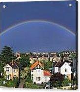 Monkstown, Co Dublin, Ireland Rainbow Acrylic Print