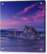 Mono Lake's Fiery Sky Acrylic Print
