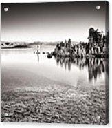 Monochrome Mono Lake Sunrise Acrylic Print by Tanya Harrison
