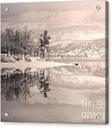 Monotone Winter Acrylic Print