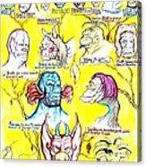 Monster Genealogy Acrylic Print by Jamie Jonas