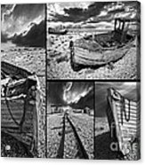 Montage Of Wrecked Boats Acrylic Print
