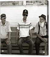 Montana Bench Boys Part II Acrylic Print