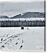 Montana Ice Fishing Acrylic Print