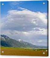 Montana Ploughed Earth Field Acrylic Print