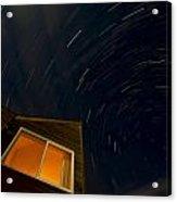 Montauk Star Trails Acrylic Print