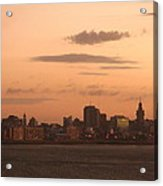 Montevideo Skyline At Sunrise Acrylic Print