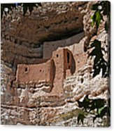 Montezuma Castle Cliff Dwellings In The Verde Valley Of Arizona Acrylic Print