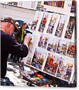 Montmartre Street Artists Acrylic Print
