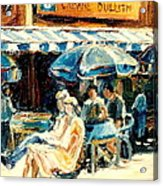 Montreal Cafe City Scenes Prince Arthur And Duluth Street Acrylic Print