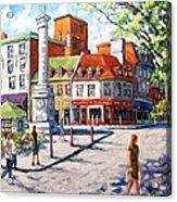 Montreal Street Urban Scene By Prankearts Acrylic Print