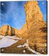 Monument Rocks In Kansas Acrylic Print