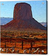 Monument Valley 2 Pastel Acrylic Print