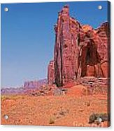 Monument Valley Elrphant Butte And Hogan Acrylic Print