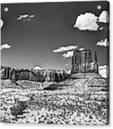 Monument Valley In Monochrome  Acrylic Print