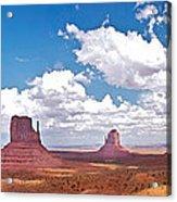 Monument Valley Pano Acrylic Print