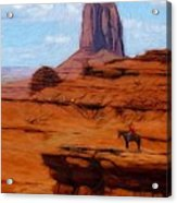Monument Valley Pastel Acrylic Print by Steve K