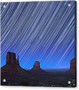 Monument Valley Star Trails 1 Acrylic Print
