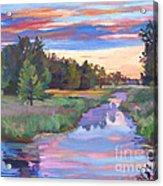 Moody River Acrylic Print
