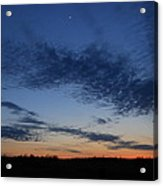 Moon And Clouds At Dusk Acrylic Print