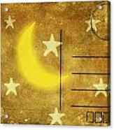 Moon And Star Postcard Acrylic Print