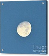 Moon Before Dark Acrylic Print