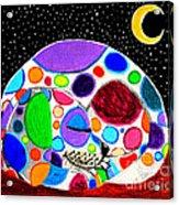 Moon Doggy Acrylic Print