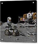 Moon Exploration, Artwork Acrylic Print