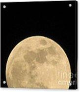 Moon Galaxy Saturn Acrylic Print