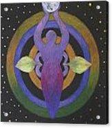 Moon Goddess Mandala Acrylic Print